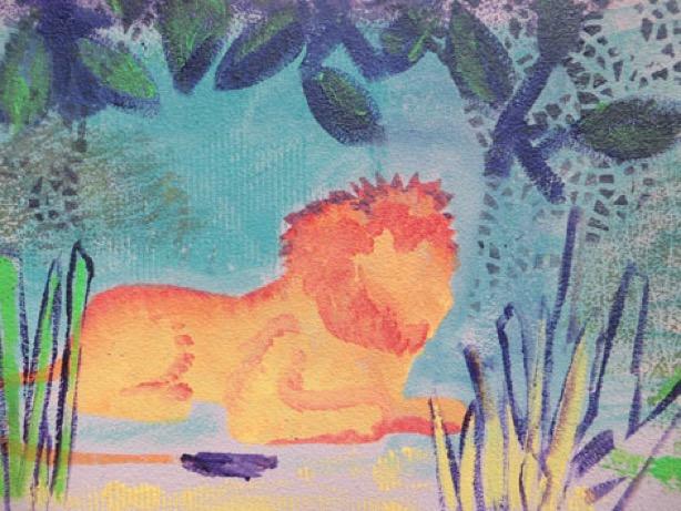 sjablonen leeuw