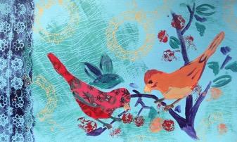 sjablonen vogel