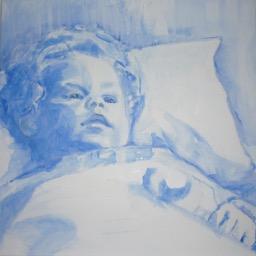 Lida Meines portret schets