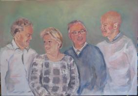 Lida Meines portret gezin