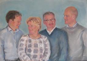 familieportret schilderij 2017
