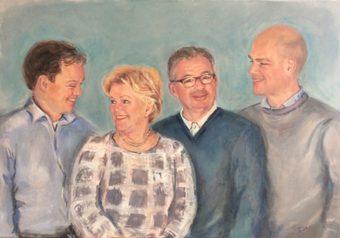 familieportret schilderen